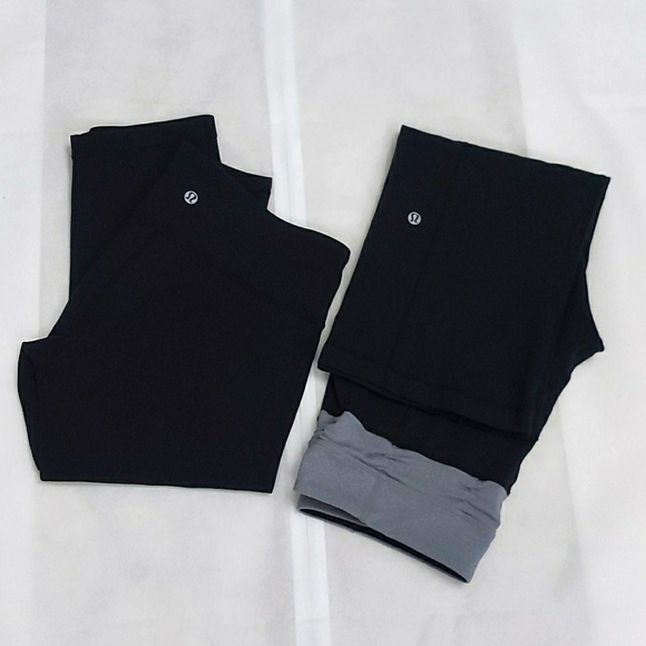 Lululemon bundle - 2 crop pants both size 8